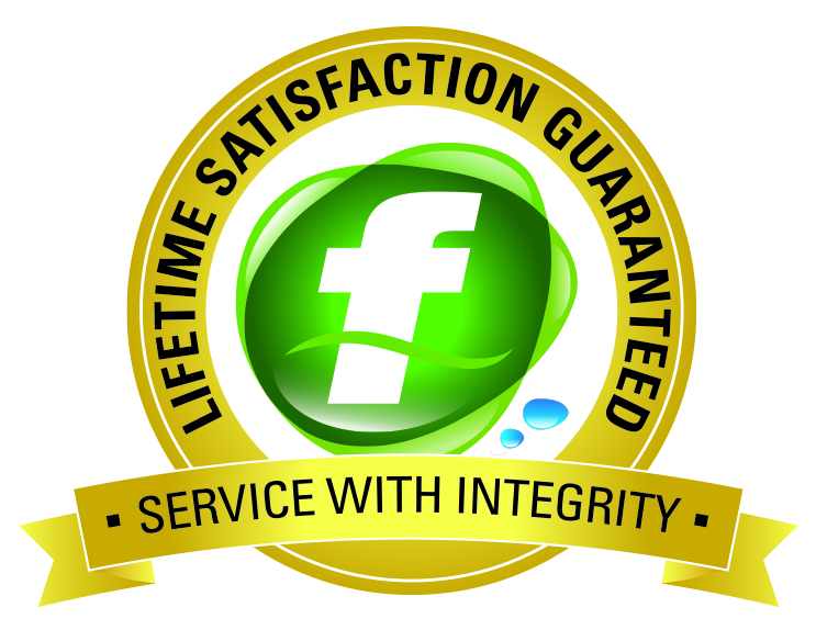 Fluid Plumbing satisfaction guarenteed logo