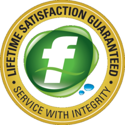 Logo for Fluid Plumbing Services Lifetime Service Guarantee