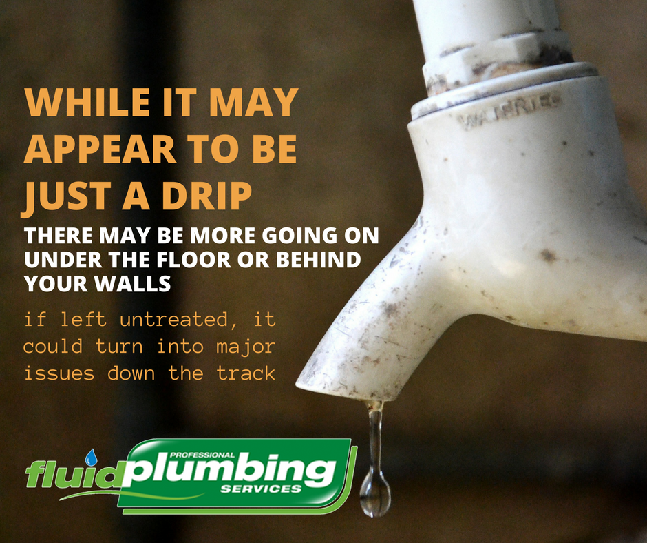 While it may appear to be just drip, and a leaking tap might appear to be an easy job to fix, there may be more going on under the floor or behind your walls, that if left untreated could turn into major issues down the track.