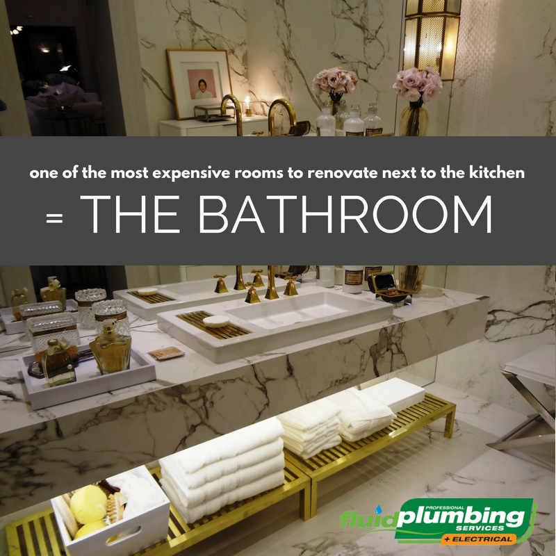 The bathroom is one of the most expensive rooms to renovate next to the kitchen and you'll need to hire professionals for your plumbing and electrical work.