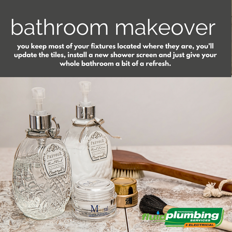 To us, a makeover is where you keep most of your fixtures located where they are