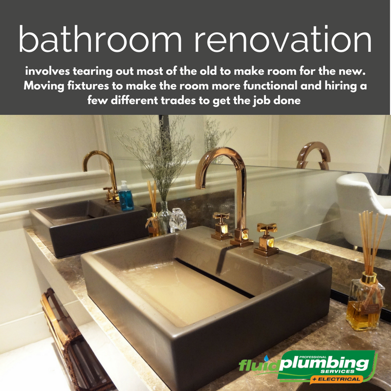 A renovation involves tearing out most of the old to make room for the new