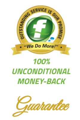 Fluid Plumbing 100% Unconditional Money Back Guarantee